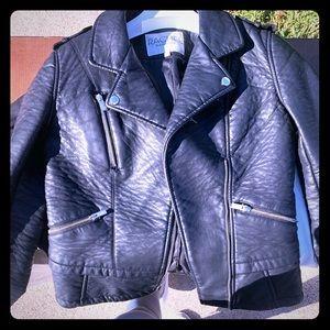 Rachel Roy Black Leather Jacket size small
